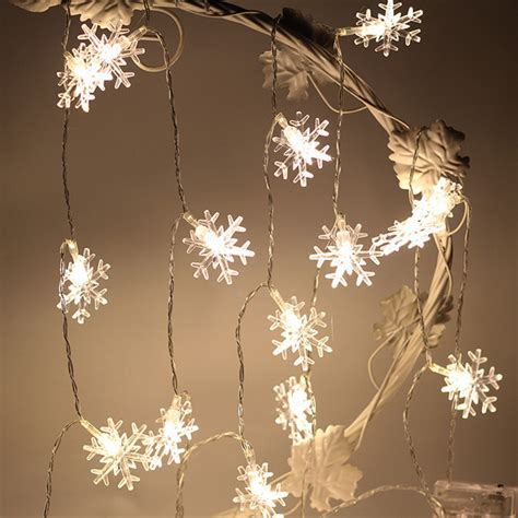 Snow Lights by Kcasa 1m 10led Snowflake Shape Led String Light Colorful
