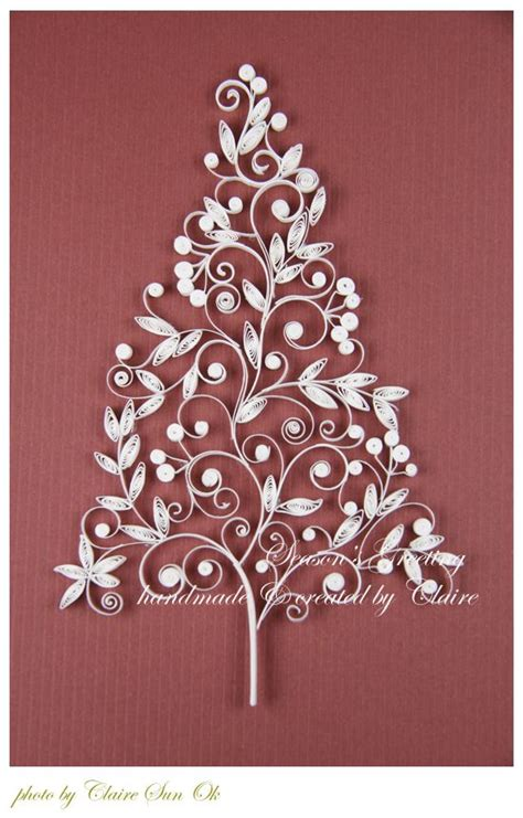 christmas tree bell card 네이버 블로그 quilling trees