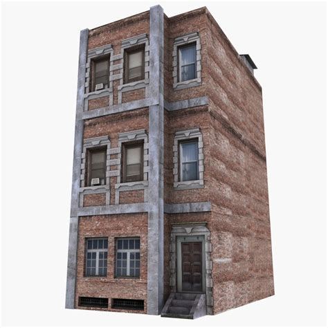 three building 3d 3 apartment building