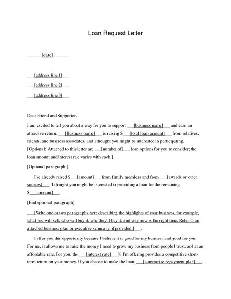 business loan application letter sample  printable