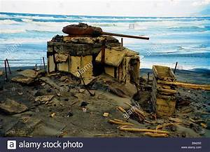 Fixed tank weapon emplacement on Iturup Island the region ...