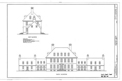carters grove plantation architectural home plans colonial brick mansion ebay