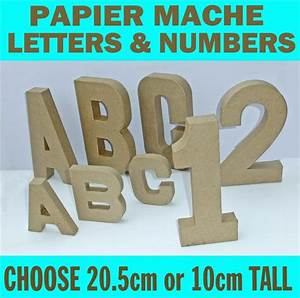 papier paper mache large small letters numbers 205cm With cardboard letters and numbers