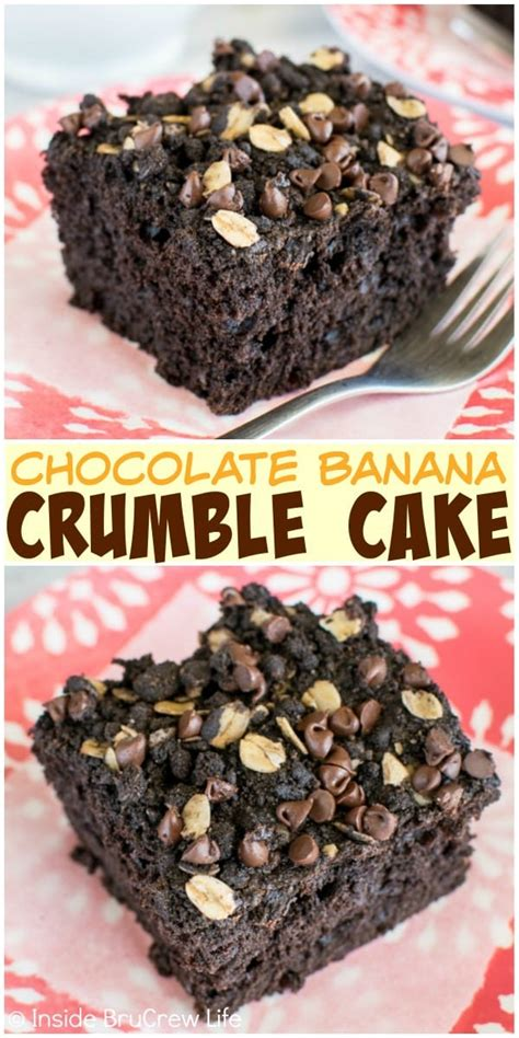 chocolate banana crumble cake  brucrew life