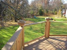 clear railing  vinyl deck  fence      clear panels