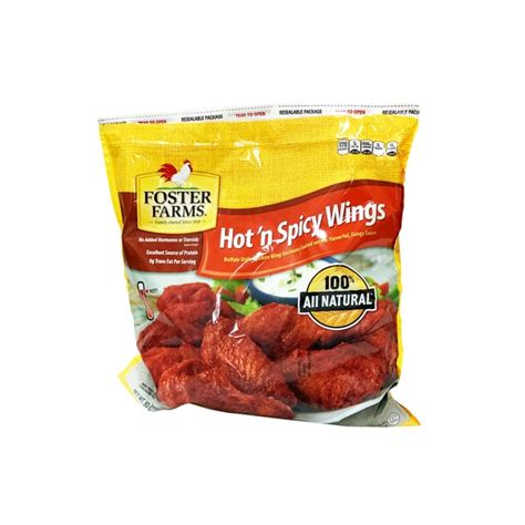 Serve the chicken wings hot or at room temperature with the blue cheese dip and celery sticks. Foster Farms Hot'n Spicy Chicken Wings from Costco - Instacart