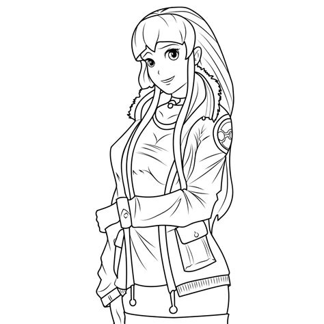 Hot Girl Coloring Pages at GetColorings com Free