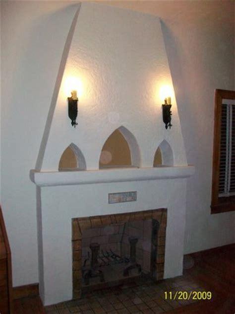 stucco  plaster fireplace   san diego custom