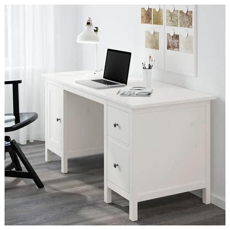 white desk with hemnes desk white stain 155x65 cm ikea
