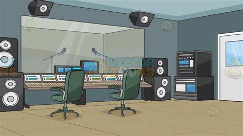 Interior Home Color - a recording studio background clipart vector