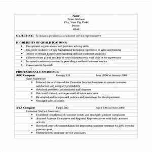 11 customer service resumes to download sample templates With customer service resume template word