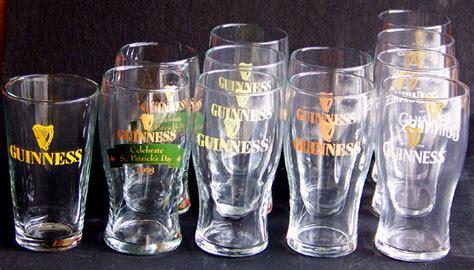 Set Of 12 Guinness Assorted English Pint Bar Glasses