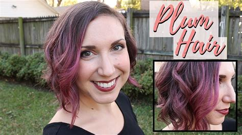 Plum Hair Color With Overtone Conditioner