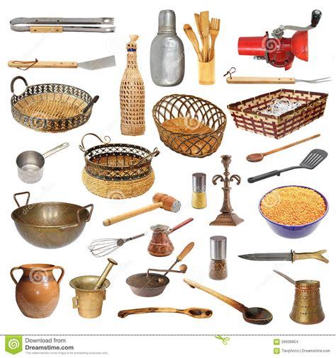 objet cuisine collection de différents ustensiles et objets de cuisine