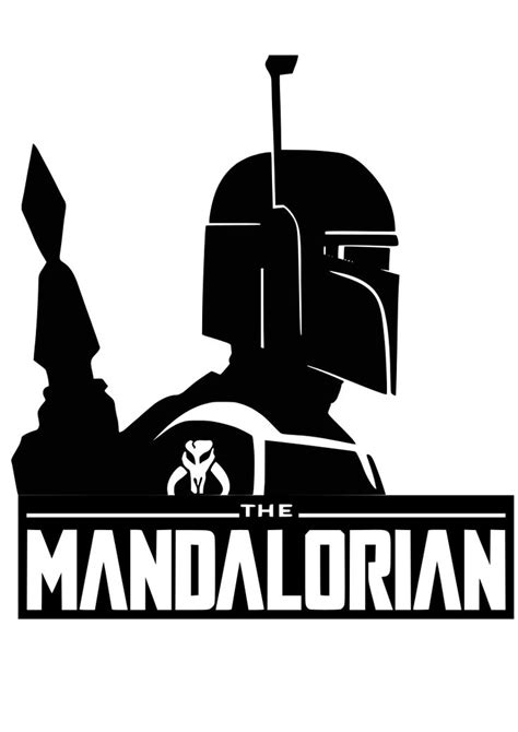 The Mandalorian svg file shirt sticker | Star wars stencil ...