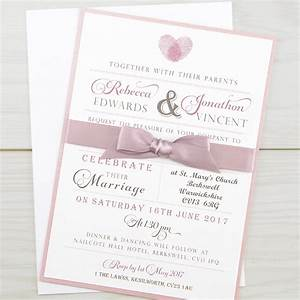 thumb print parcel pure invitation wedding invites With custom wedding invitation printing uk