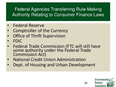 us federal trade commission bureau of consumer protection the impact of the dodd frank act on your bank