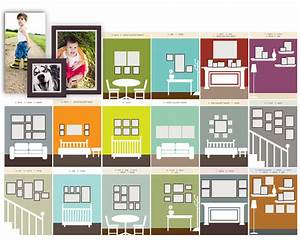 useful ideas and layouts to create a photo gallery wall With template for hanging pictures