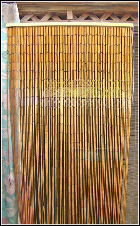 Bamboo Beaded Curtains For Doors - Curtains : Home Design