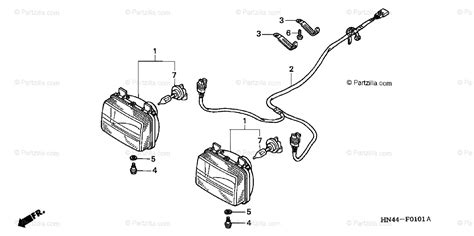 honda atv 2002 oem parts diagram for headlight trx350fm fe partzilla com
