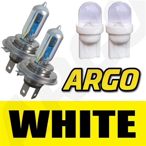 H4 Xenon White Headlight Bulbs Skoda Fabia Octavia Yeti