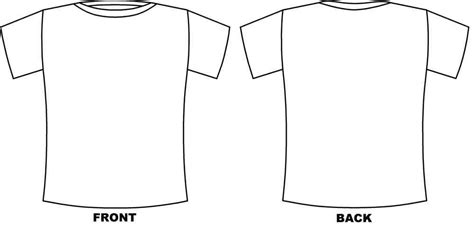 Printable Tshirt Template