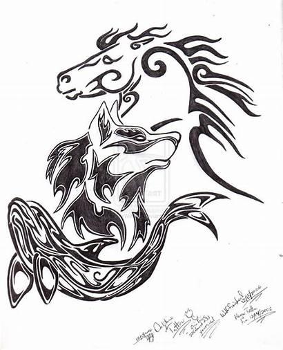 Wolf Tattoo Horse Celtic Tattoos Tribal Dolphin