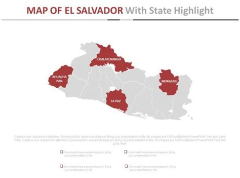 map  el salvador  state highlight powerpoint