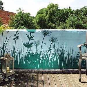 Sichtschutzmatten Kunststoff Meterware : balkon banner springtime t rkis sichtschutz ~ Eleganceandgraceweddings.com Haus und Dekorationen