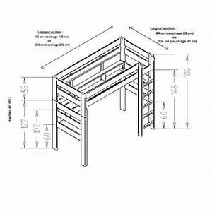 Hauteur Lit Mezzanine : lit mezzanine hauteur 150 cm lit mezzanine cm hauteur lit ~ Premium-room.com Idées de Décoration
