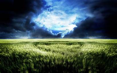 Field Football Storm Clouds Wheat Sport Wallpapers