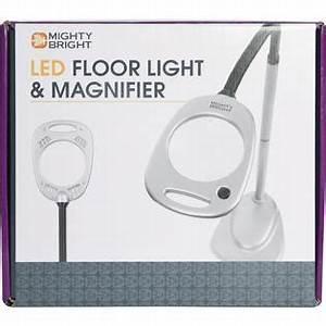 mighty bright floor light magnifier grey black home With mighty bright floor stand magnifier lamp grey black