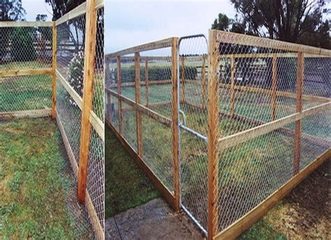 simple dog fence ideas  cheap fencing ideas  dogs