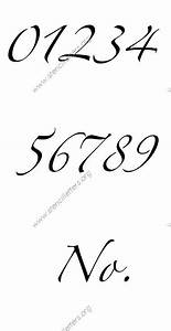 Stylish Cursive Letter Stencils Numbers and Custom Made to ...