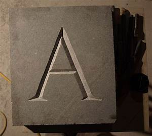 Carving letters in stone sean hunter williams for Stone letter carving