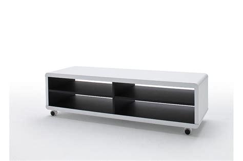 meuble tv roulettes meuble tv roulettes blanc et noir pour salon