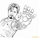 Stark Tony Coloring Pages Avengers Printable Thanos Team Print Members Coloringpagesonly sketch template