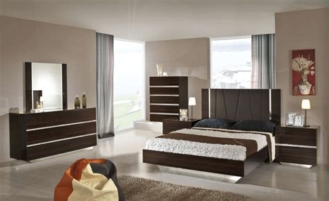 luxor modern ebony lacquer italian bedroom set