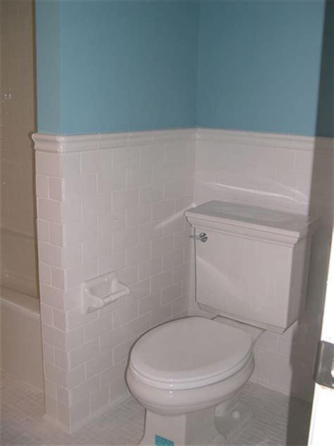 subway tile wainscoting bathroom subway tile wainscot flickr photo sharing