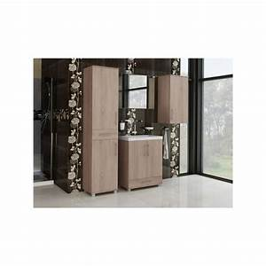 Salle De Bain Complete : salle de bain compl te lagona 2 m lamin e imitation bois ~ Dailycaller-alerts.com Idées de Décoration