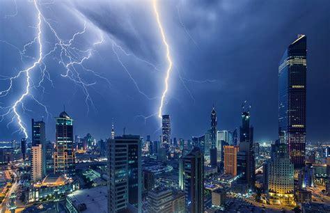 landscape lightning skyscraper