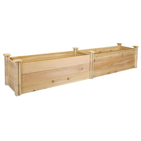 greenes fence raised garden bed greenes fence 16 in x 96 in x 16 5 in premium cedar