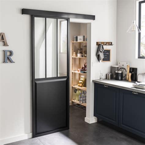 porte coulissante de cuisine ensemble porte coulissante atelier aluminium verre clair
