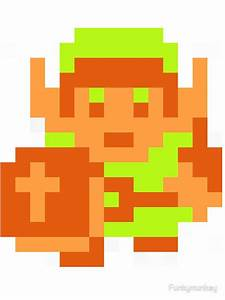 """Link (Original Sprite)"" Stickers by Funkymunkey | Redbubble"