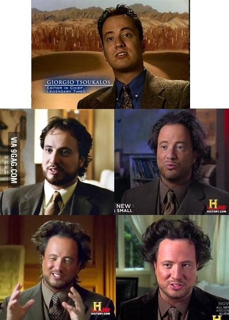 """Just the hair evolution of """"Ancient Aliens Guy"""" - 9GAG"""