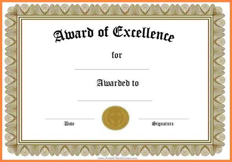 Free Certificate Templates For Word by 5 Free Blank Certificate Templates For Word Bussines