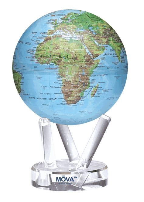 mova rotating 6 quot globe blue from onlyglobes