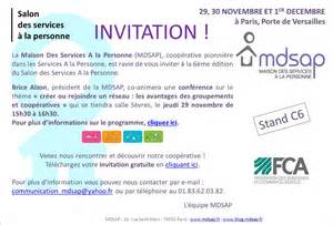 Non Baby Shower Invitation by Invitation Mdsap Au Salon Des Services A La Personne