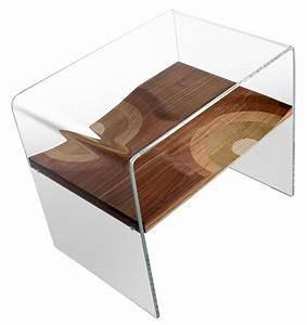 Table De Chevet Verre : table de chevet bifronte transparent horm made in design ~ Teatrodelosmanantiales.com Idées de Décoration