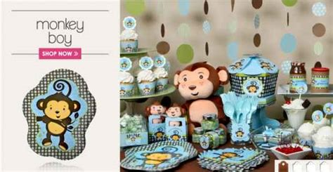 Monkey Baby Shower Decorations  Party Favors Ideas